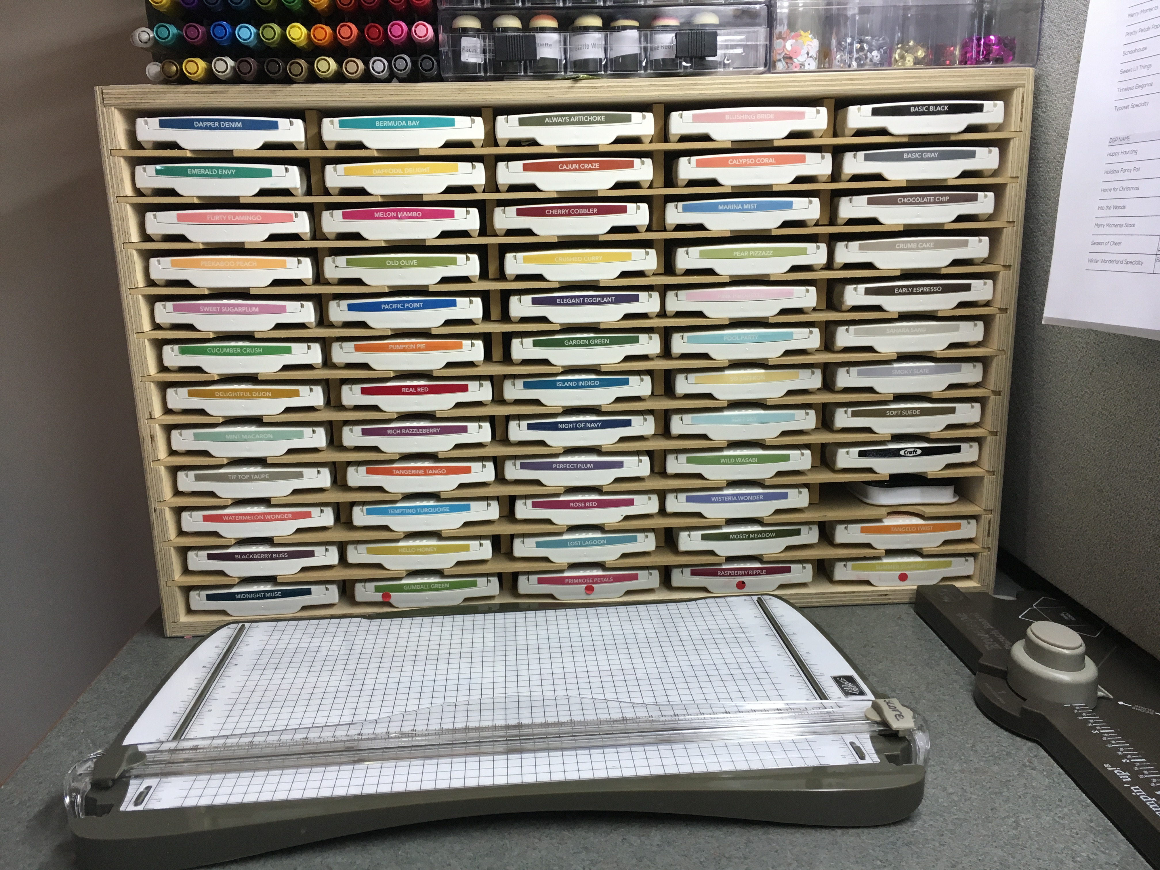 Stamp-N-Storage organization for Stampin Up ink and other producs - Jeanie Stark StampinUp