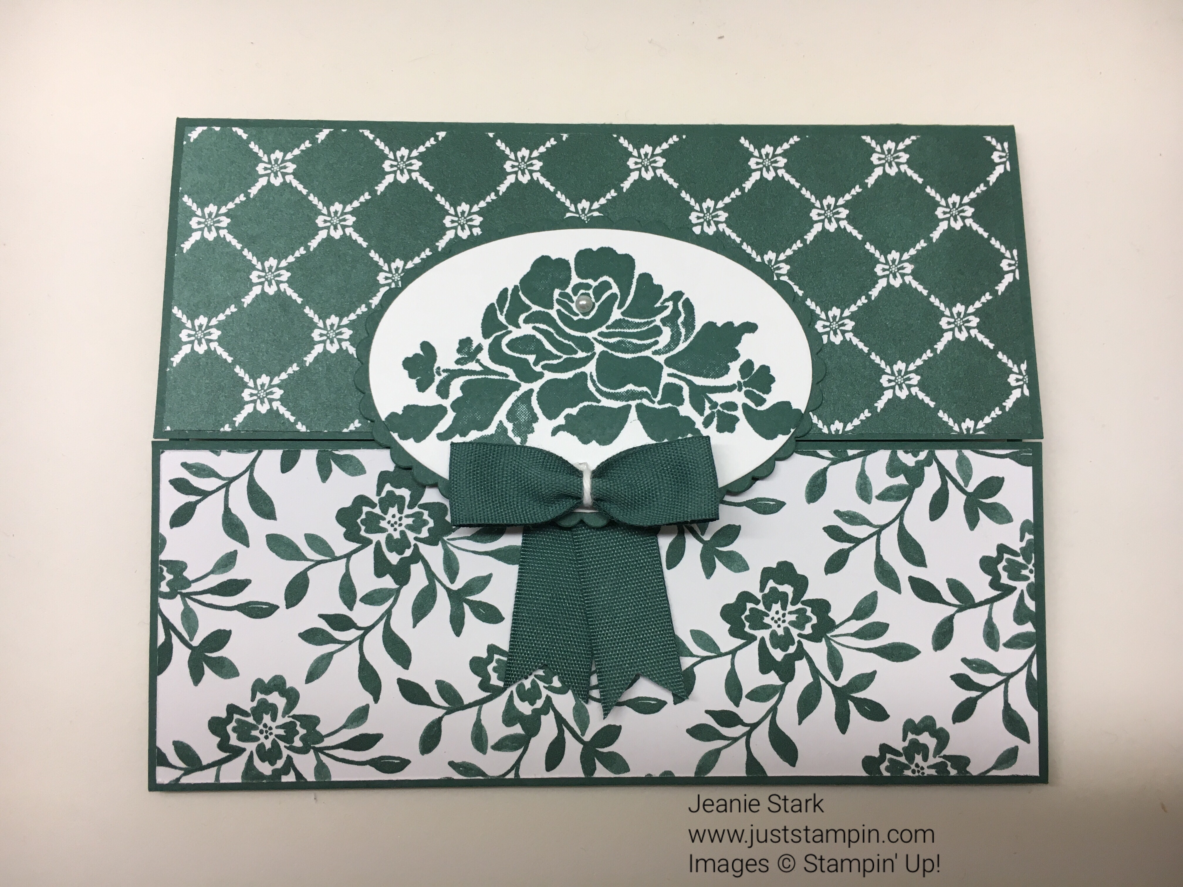 Stampin Up Floral Phrases Gate Fold thank you card idea - Jeanie Stark StampinUp