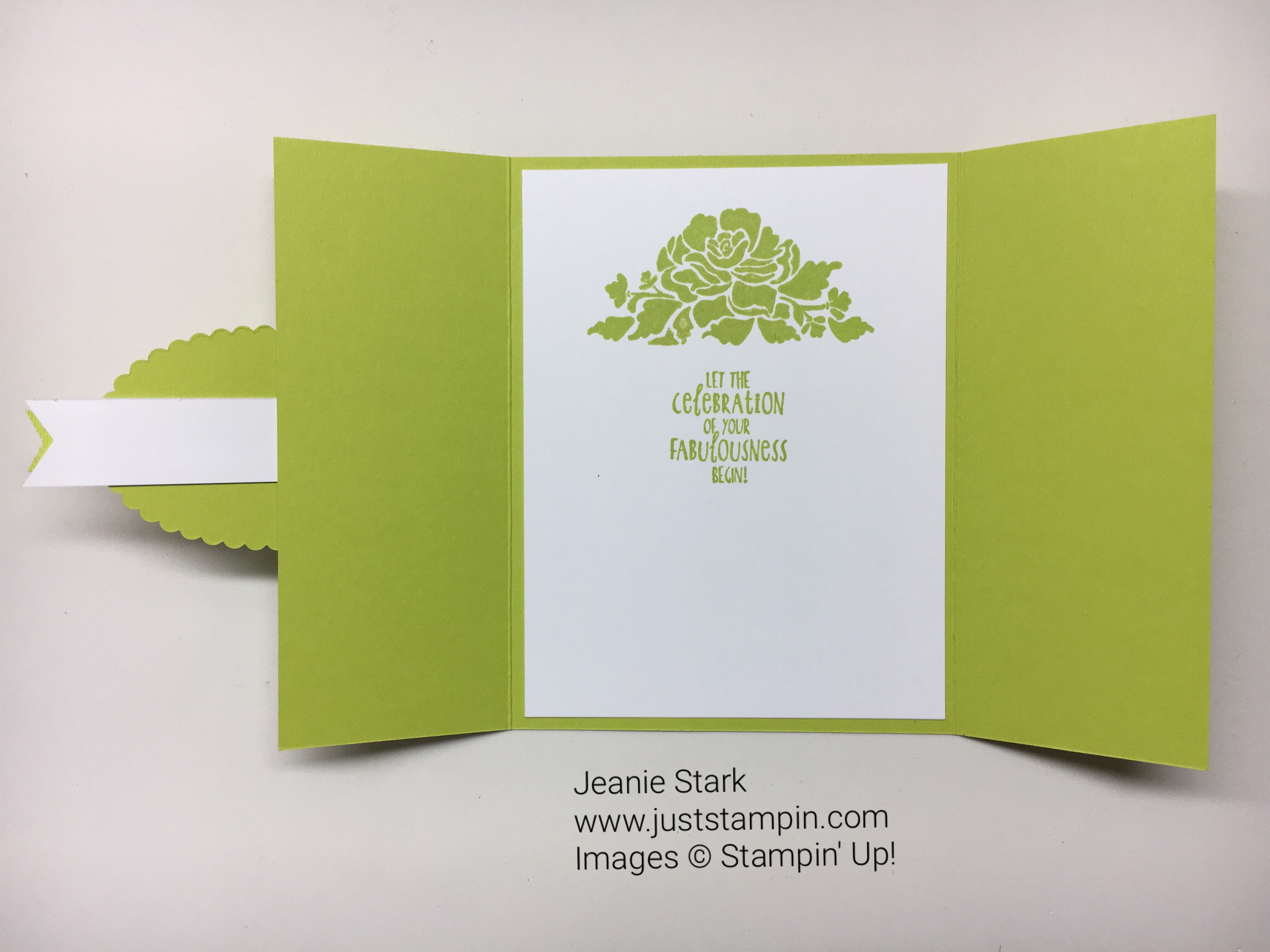 Stampin Up Happy Birthday Gorgeous and Floral Phrases Fresh Florals Gate Fold birthday card idea - Jeanie Stark StampinUp