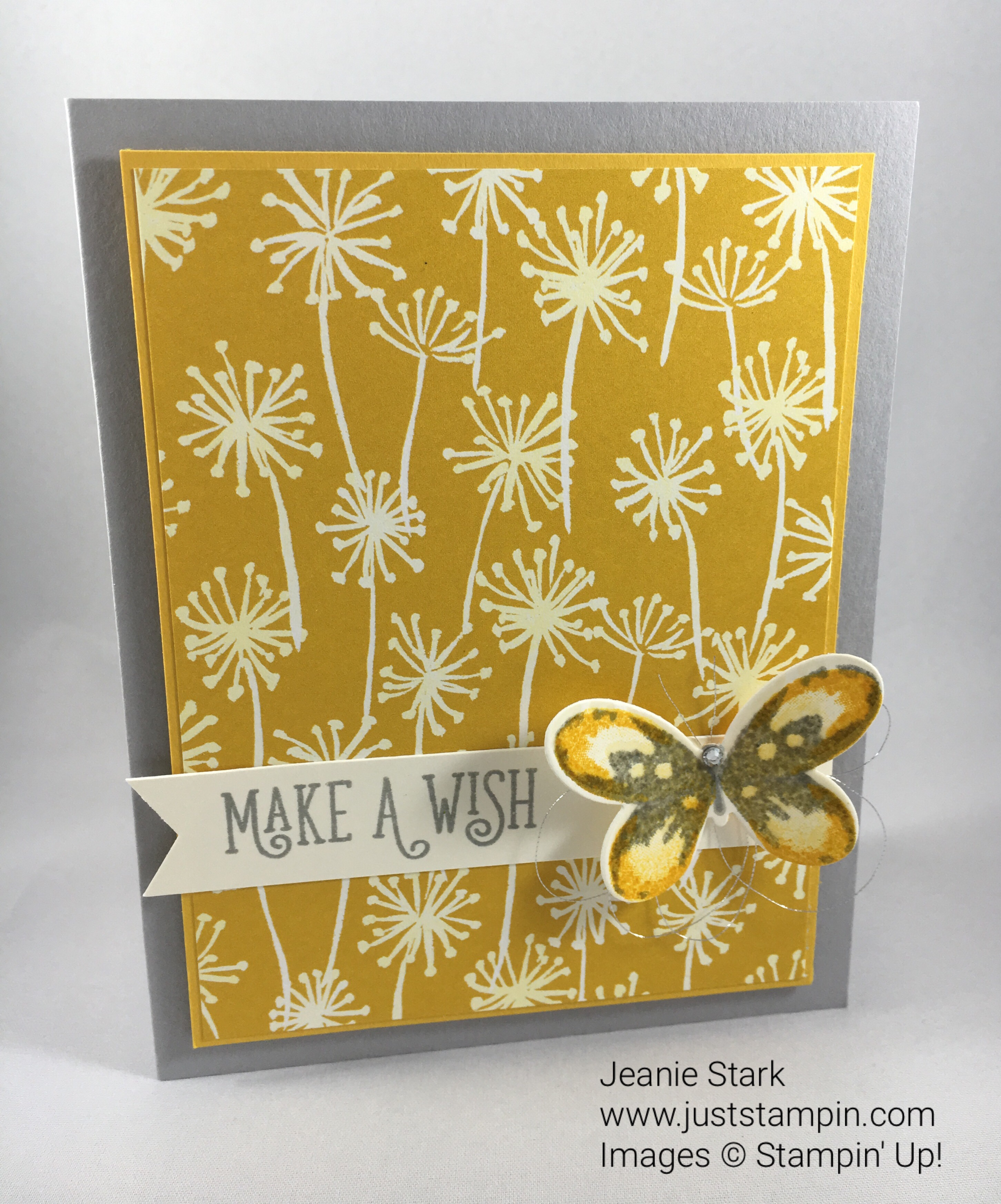 Stampin Up Happy Birthday Gorgeous birthday card idea using Whole Lot of Lovely Designer Series Paper - Jeanie Stark StampinUp