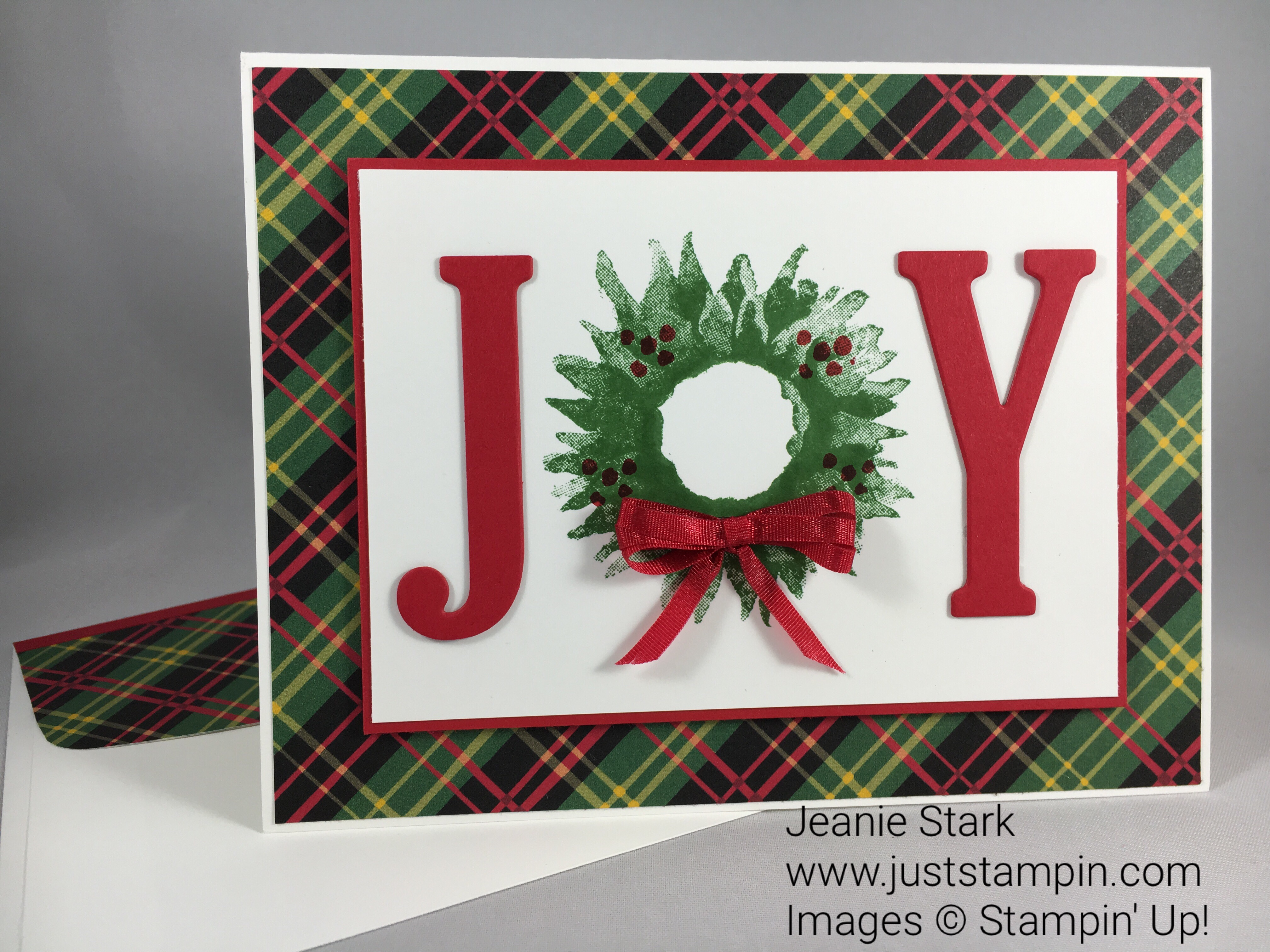 Stampin Up Painted Harvest Christmas card idea - Jeanie Stark StampinUp