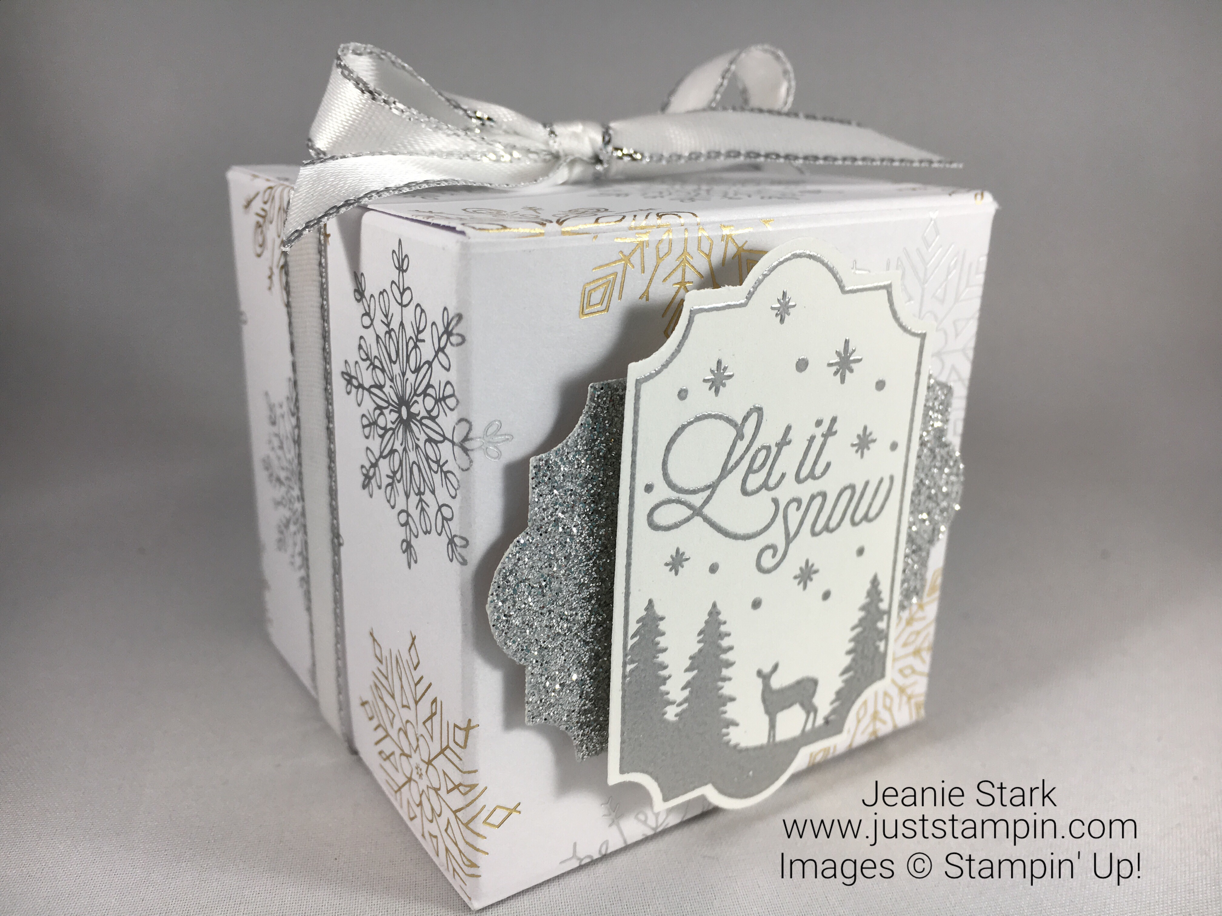 Stampin Up Year of Cheer and Merry Little Labels gift box idea - Jeanie Stark StampinUp