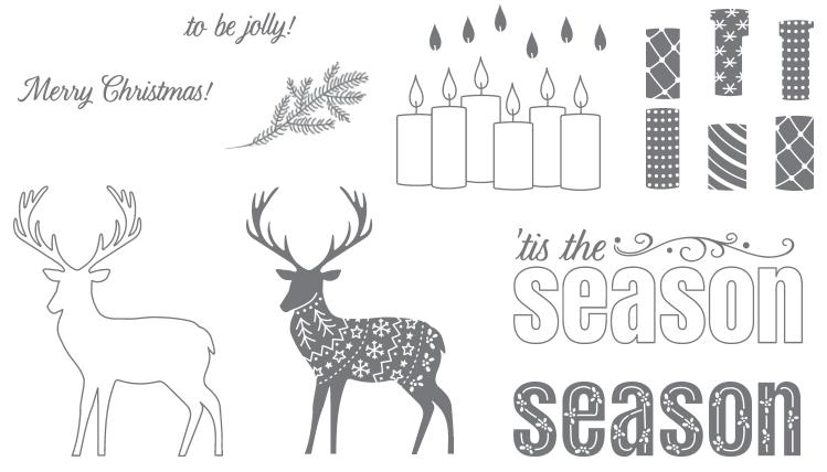 Merry Patterns stamp set