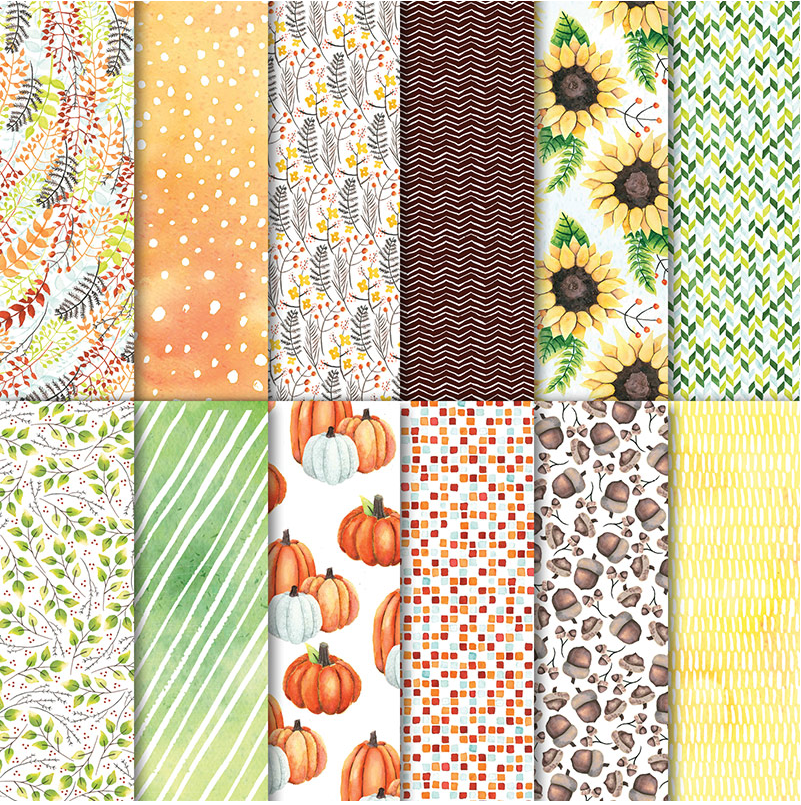 Painted Autumn Designer Series Paper by Stampin' Up! For ideas and ordering visit www.juststampin.com