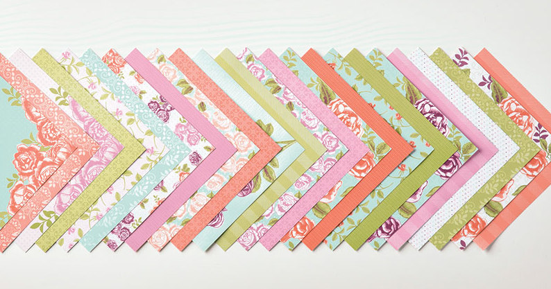 Stampin Up Petal Garden Designer Series Paper. For inspiration and ordering visit www.juststampin.com
