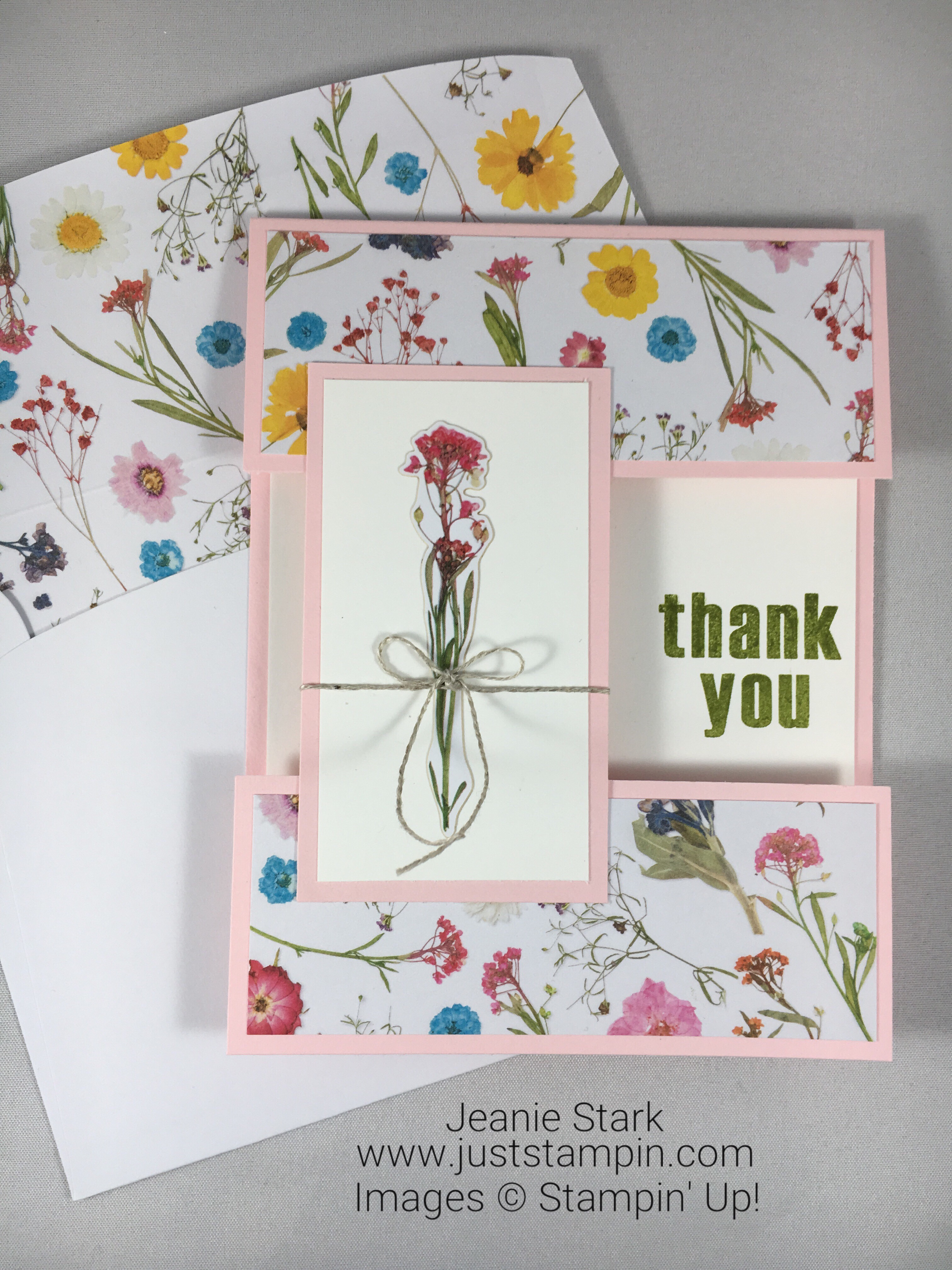 Stampin Up Paper Pumpkin Wildflower Wishes alternate thank you card idea - Jeanie Stark StampinUp