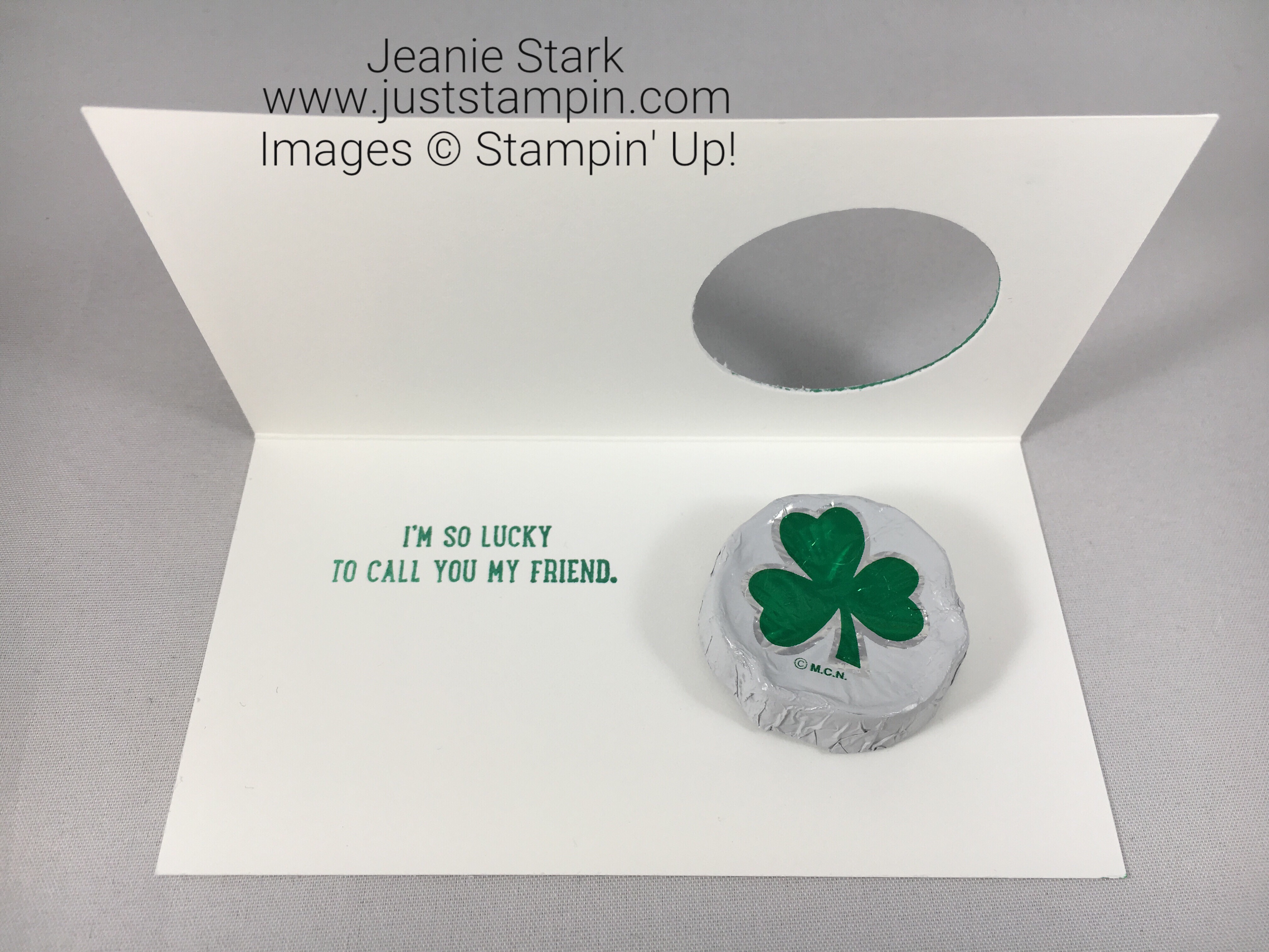 Stampin Up Sprinkles of Life St. Patrick's Day card idea using Narrow Note Card - Jeanie Stark StampinUp
