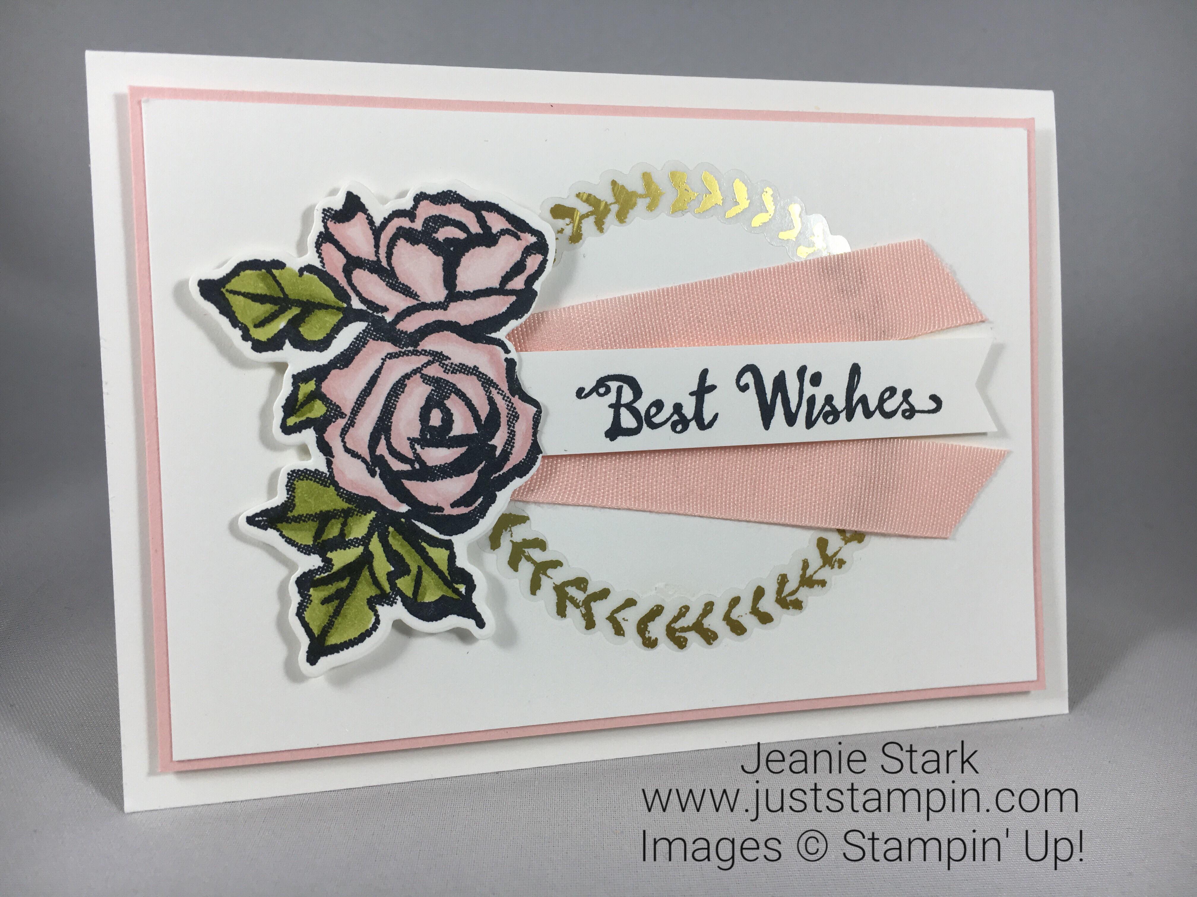 Stampin Up Petal Palette Wedding Card idea - Jeanie Stark StampinUp