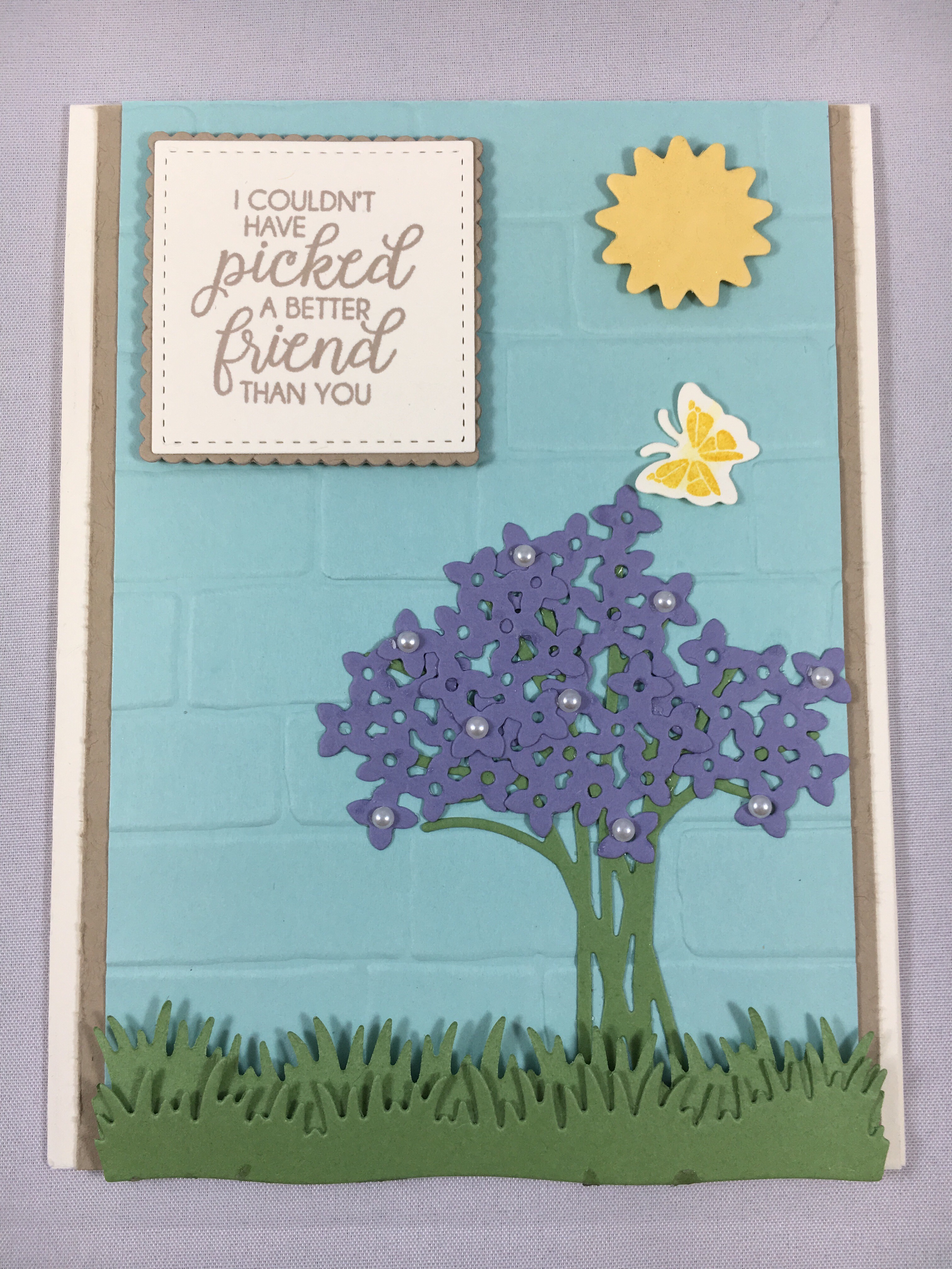 Stampin Up Beautiful Bouquet friend card idea - For inspiration, ordering and more visit www.juststampin.com Jeanie Stark StampinUp