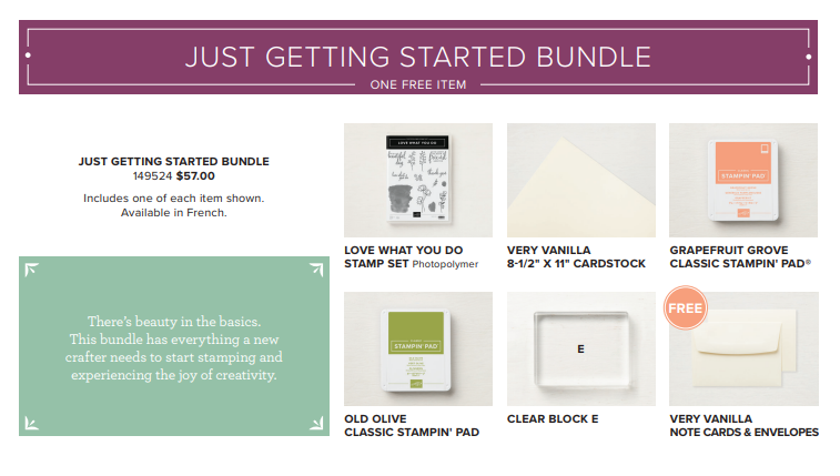 Share What You Love Just Getting Started Bundle
