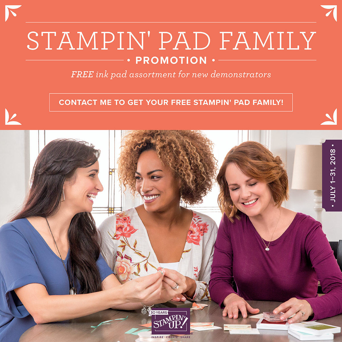 Free Ink pad assortment when you Join Stampin Up in July - Jeanie Stark www.juststampin.com StampinUp