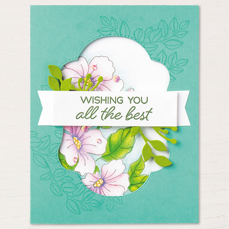 Stampin' Up! Color Your Season card idea - visit www.juststampin.com for inspiration and ordering. Jeanie Stark StampinUp