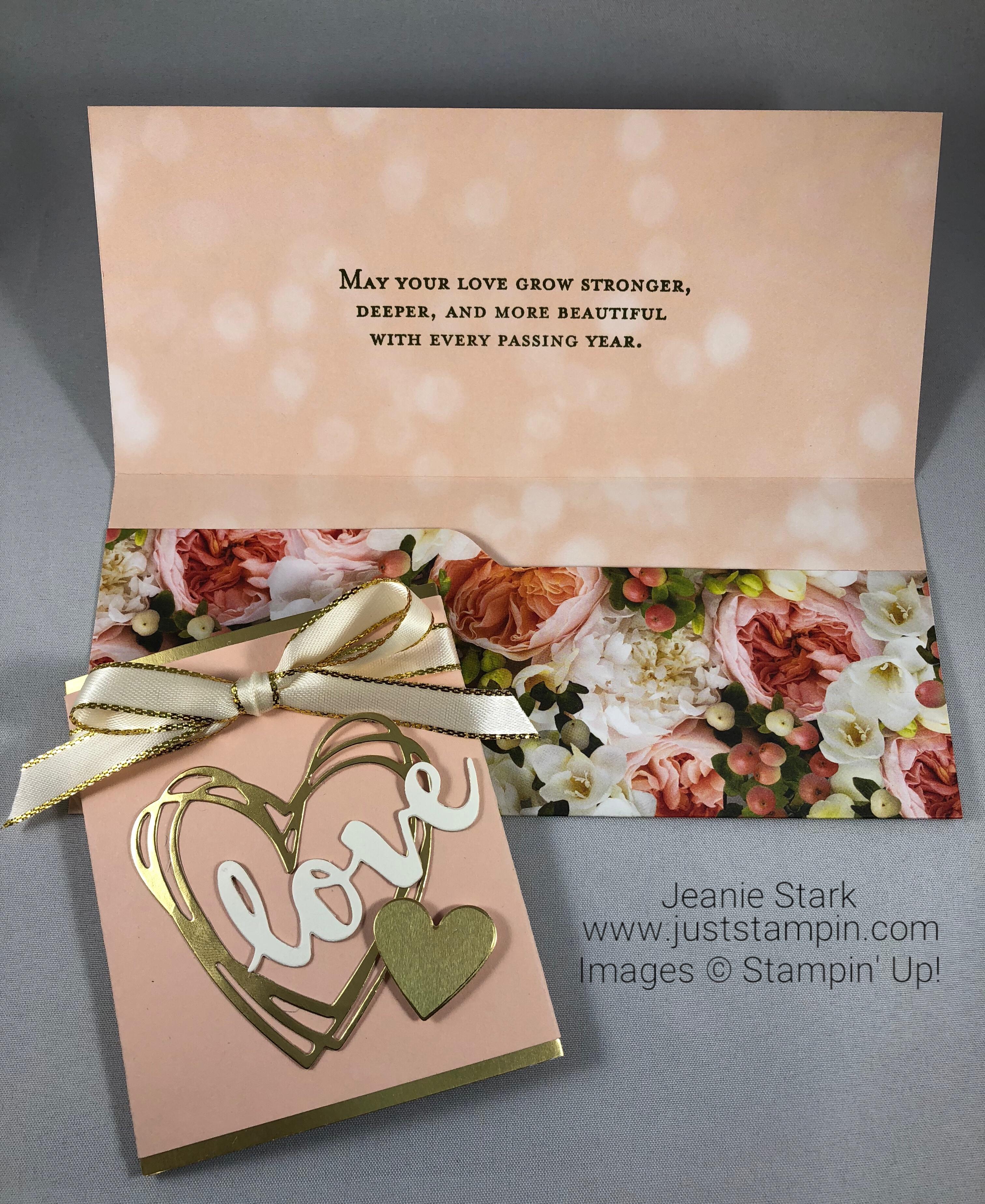 Stampin Up Sunshine Wishes wedding card / money holder idea - Jeanie Stark StampinUp