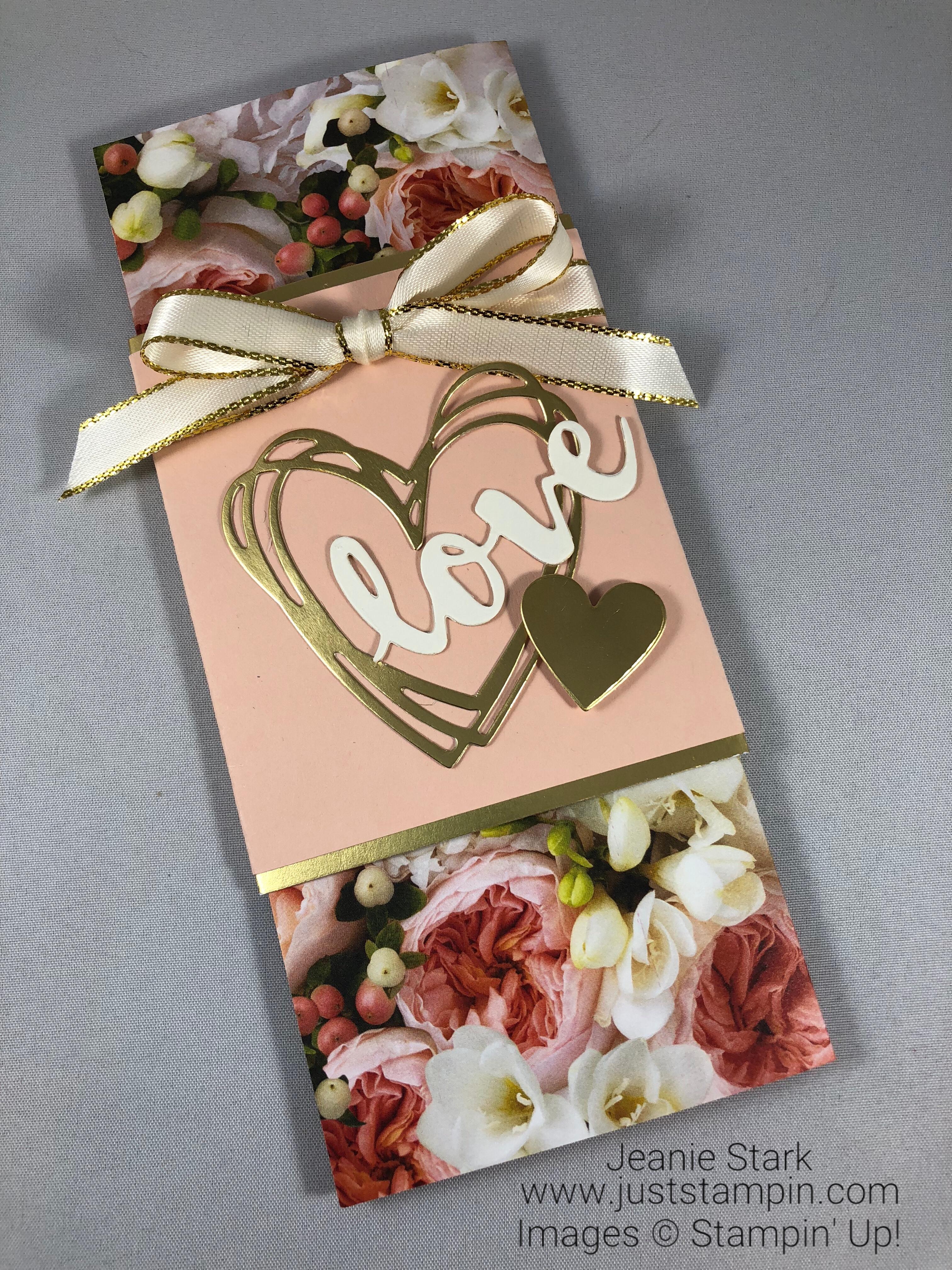 Stampin Up Sunshine Wishes money holder wedding card idea - Jeanie Stark StampinUp