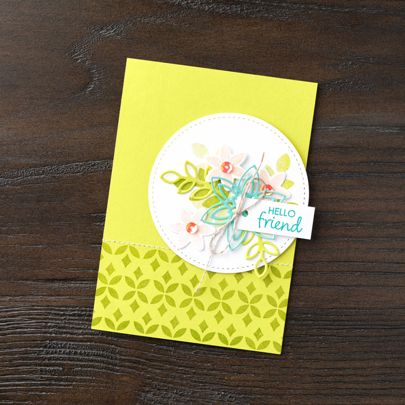 Stampin Up Happiness Surrounds friend card idea - Jeanie Stark StampinUp