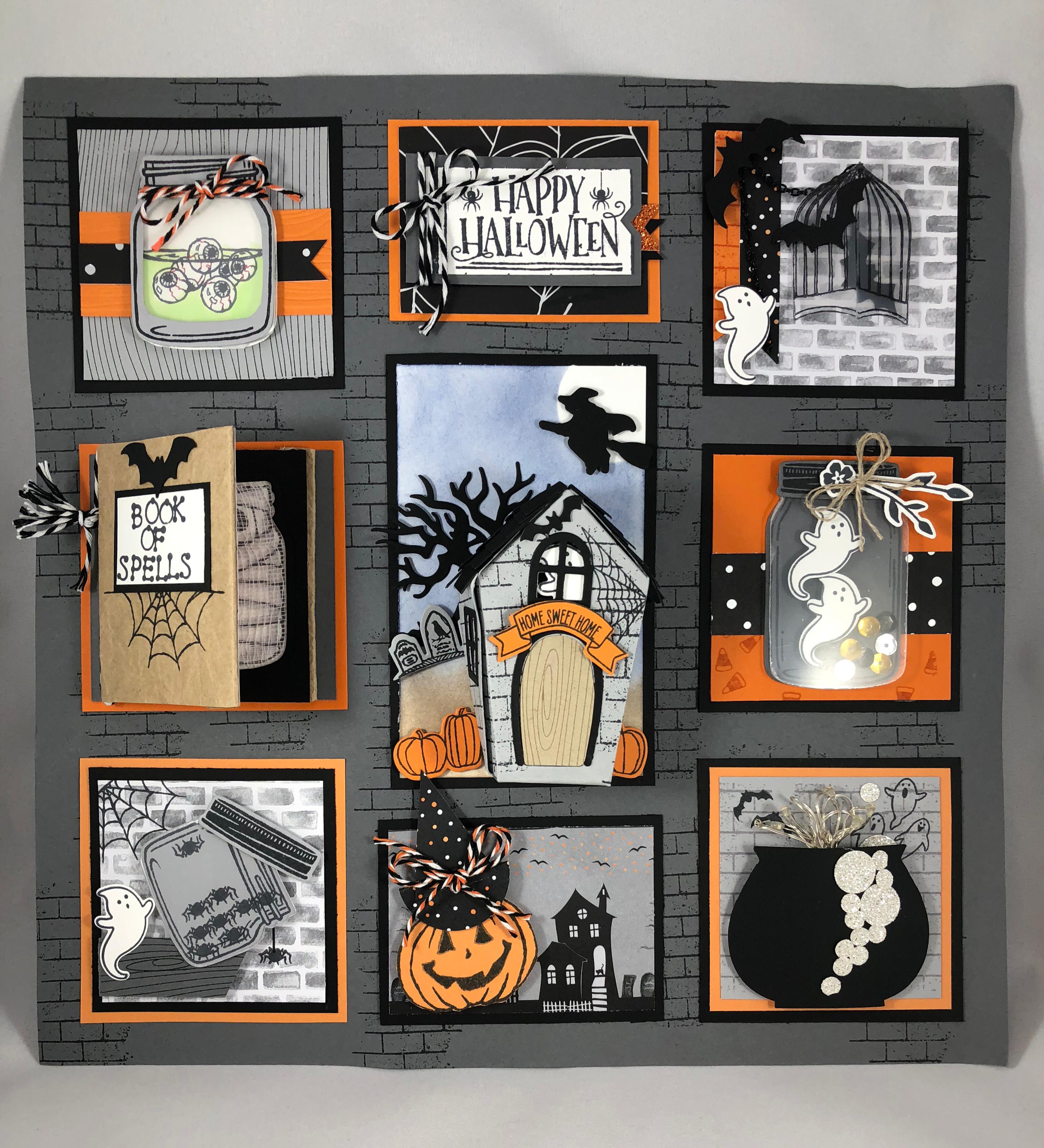 Stampin Up Halloween Sampler idea - Jeanie Stark StampinUp