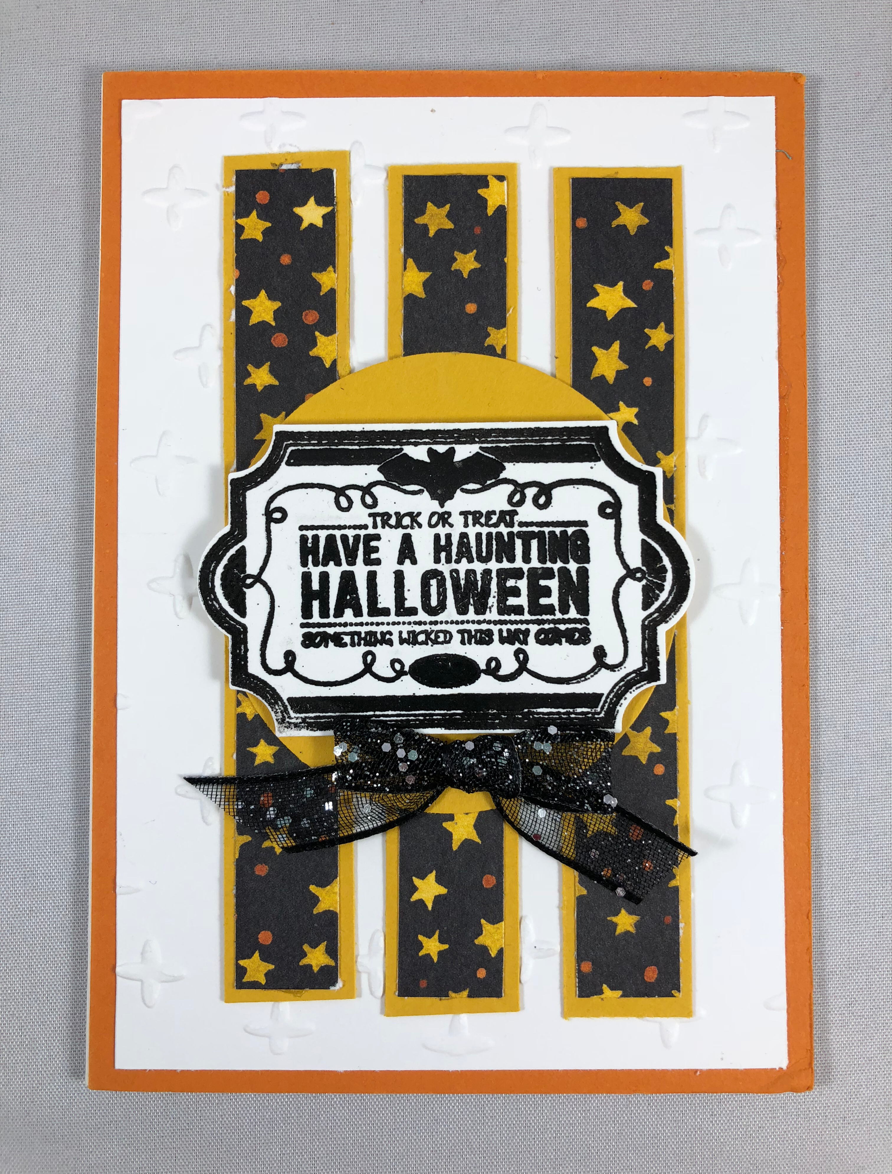 Stampin Up Labels to Love Halloween card idea - Jeanie Stark StampinUp
