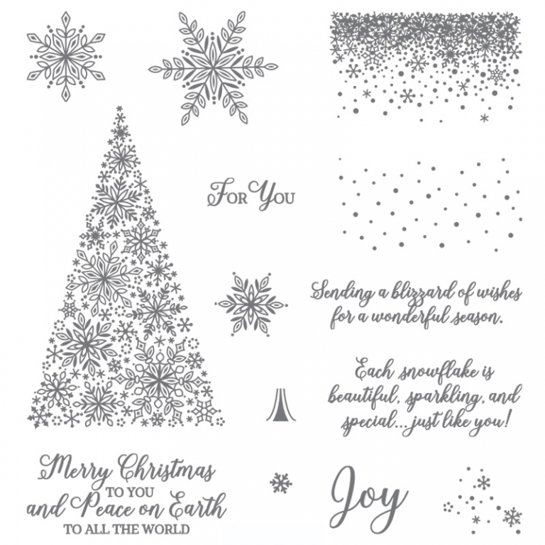 Stampin Up Snow is Glistening Stamp set - Jeanie Stark StampinUp