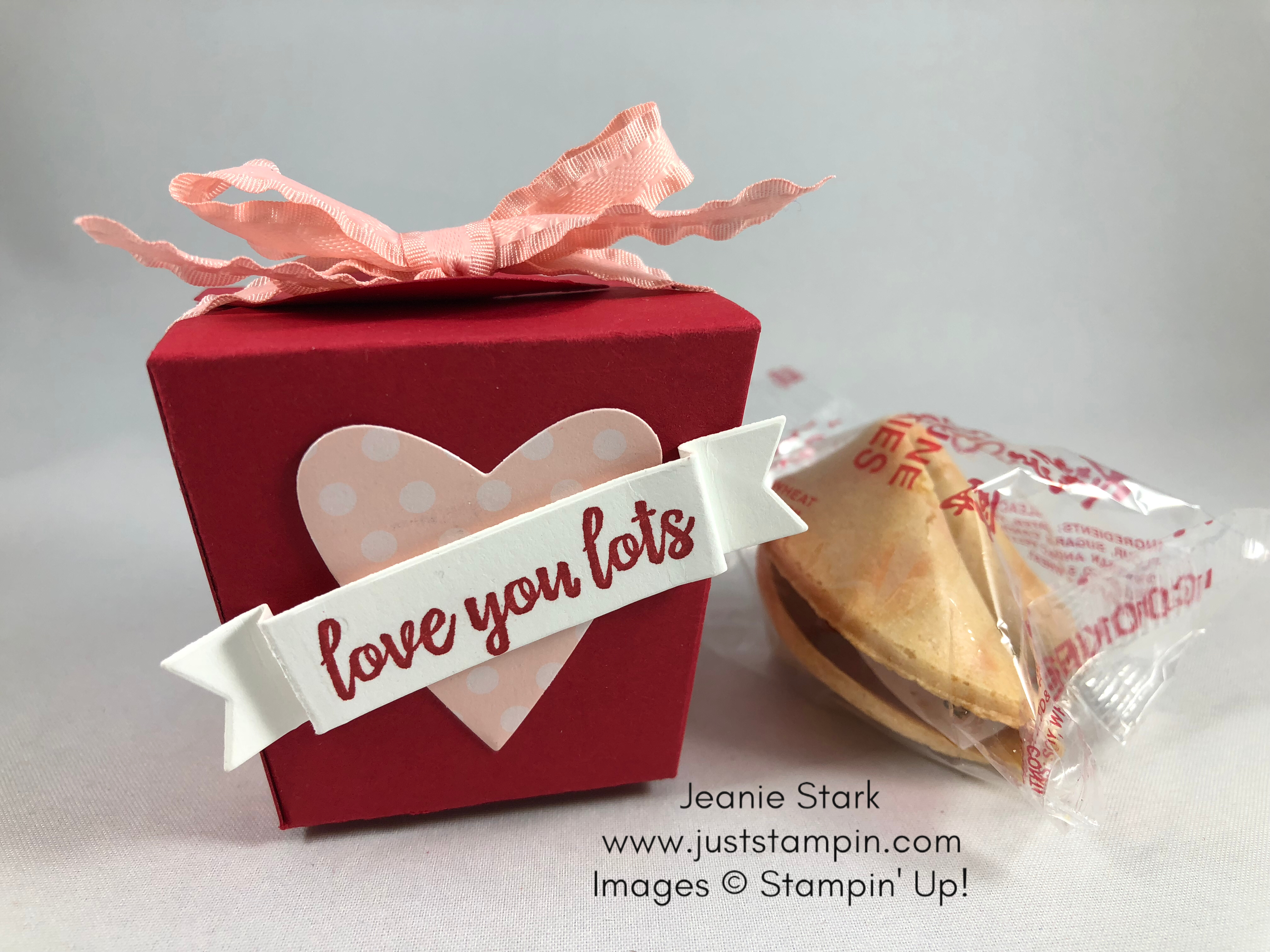 Stampin Up Takeout Treats Valentine or Anniversary favor - Jeanie Stark StampinUp