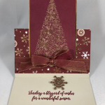 Stampin Up Snow is Glistening Fun Fold Christmas card idea - Jeanie Stark StampinUp